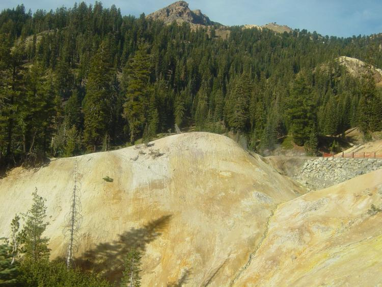 Lassen Volcanic National Park Sulphur Works and Little Hot Springs Valley